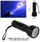 lampe torche UV 51 leds