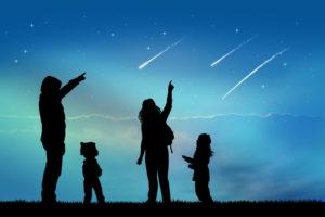 Observer des étoiles filantes dans le ciel