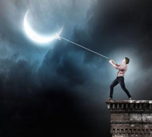 un papa qui décroche la lune pour ses enfants