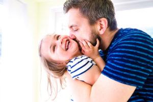 Papa avec sa fille adorée