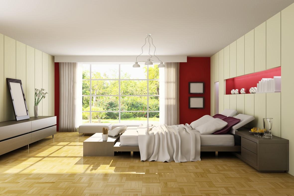 chambre à coucher en journée