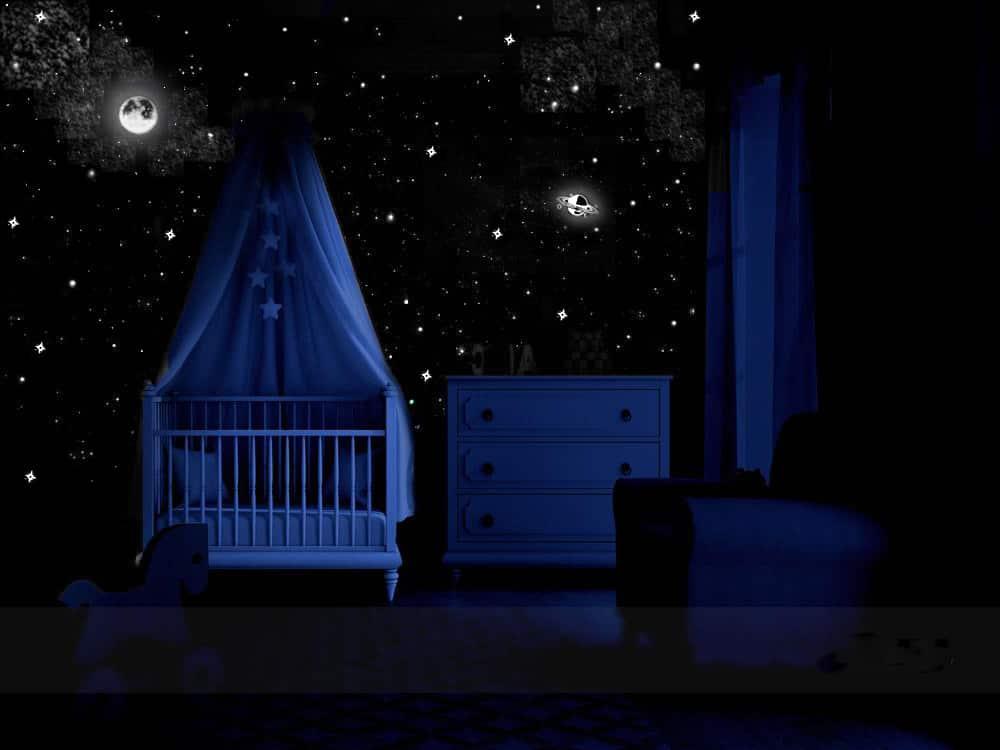 étoiles dans un chambre bébé