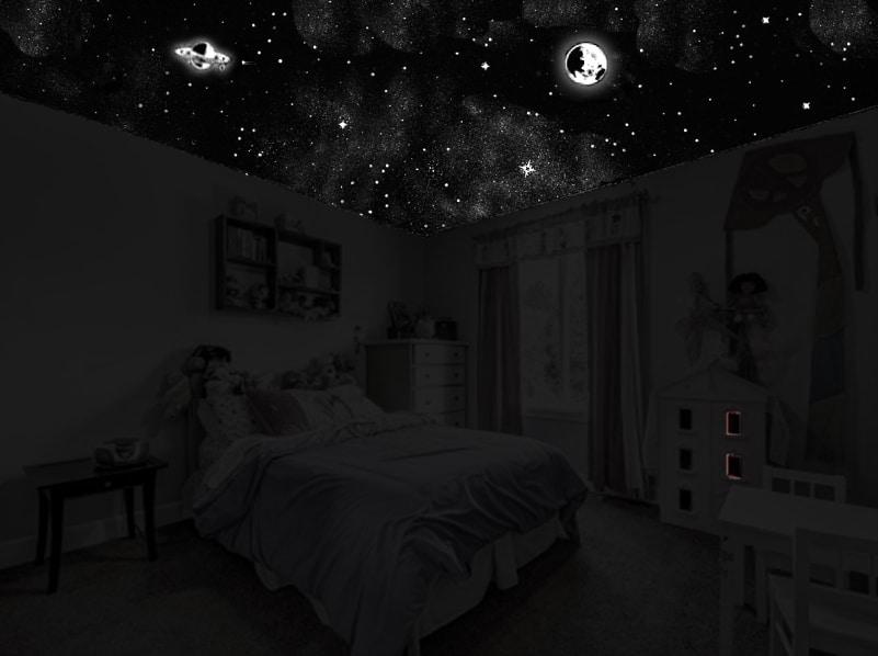 plafond étoilé dans chambre enfant